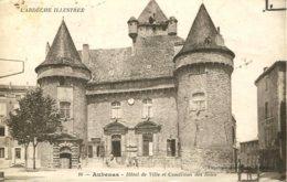 07 - CPA Aubenas - Hôtel De Ville Et Condition Des Soies - Aubenas