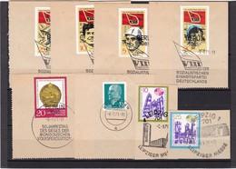 DDR, Lot Von Marken Aus 1971 Mit SST Auf Briefstück (K 3950) - DDR