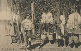Indonesia - Java - Garoet - Anklong Player - Traditional Musical Instrument - Indonesia