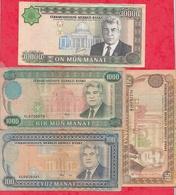 Turkménistan 4 Billets Dans L 'état - Turkménistan