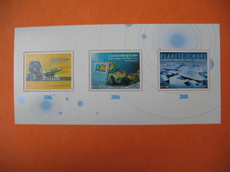 """Bloc   Exposition """" Le Salon Du Timbre Et De L'Ecrit 2004 /2006/ 2008       Neuf ** - Expositions Universelles"""
