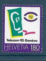 Timbre Neuf** De Suisse, N°1486 Yt, Télécom 95 Genève, UIT - Neufs