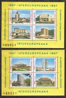Rumänien; 1987; Michel Block 231 Und 232 **; Intereuropa - 1948-.... Republics