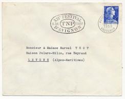 Enveloppe - OMEC Secap - AVIGNON GARE (Vaucluse) - XIIe Festival D'Avignon TNP - 1958 - Mechanical Postmarks (Advertisement)