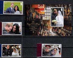 TRISTAN DA CUNHA , 2018, MNH, ROYAL WEDDING, PRINCE HENRY OF WALES AND MEGHAN MARKEL, 4v + S/SHEET - Royalties, Royals