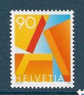 Timbre Neuf** De Suisse, N°1498 Yt, Timbre Pour Courrier Prioritaire, Lettre A - Neufs