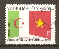 1975 - 20e Anniversaire De La République Algérienne - N°870 Vietnam Du Nord - Viêt-Nam