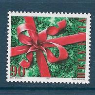 Timbre Neuf** De Suisse, N°1592 Yt, Noël, Ruban, Noeud Sur Cadeau - Neufs