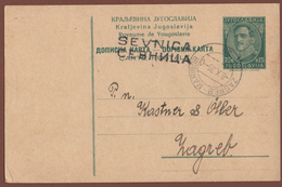 YUGOSLAVIA-SLOVENIA-CROATIA, ZAGREB-MARIBOR 29 SEVNICA RAILWAY STATION/BAHNHOF CANCELLATION 1935 RARE!!!!!!!! - 1931-1941 Royaume De Yougoslavie