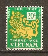 1952 - Timbre Taxe 20c. - Dragon - N°2 Vietnam Du Sud - Viêt-Nam