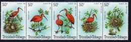 Trinidad & Tobago 1980 Scarlet Ibis Bird Strip Of 5, MNH, SG 563/7 - Trinidad & Tobago (...-1961)