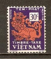 1952 - Timbre Taxe 30c. - Dragon - N°3 Vietnam Du Sud - Viêt-Nam