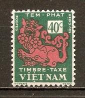 1952 - Timbre Taxe 40c. - Dragon - N°4 Vietnam Du Sud - Viêt-Nam