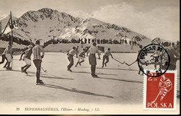 41457 Poland, Maximum 1955 Hockey On Ice,  Eis Hockey - Hockey (sur Glace)