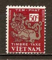 1952 - Timbre Taxe 50c. - Dragon - N°5 Vietnam Du Sud - Viêt-Nam