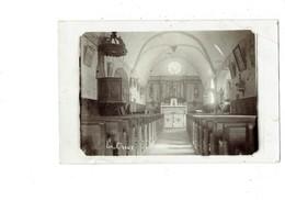 Carte Photo - Intérieur église - LA CHAUX - Vitrail Rosaire Chaire - Churches & Convents