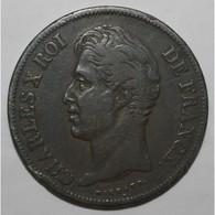 GADOURY 644 - 5 FRANCS 1827 D Lyon CHARLES X 2nd TYPE - TB A TTB - KM 728 - - J. 5 Francs