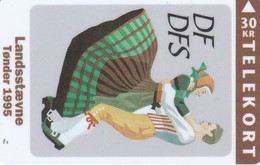 Denmark, TS 028, Toender Folk Danceill, Mint 30 Kr, Only 3.000 Issued. - Dänemark