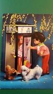 CPSM POUPEE CHIEN CABINE TELEPHONIQUE ED KRUGER - Games & Toys