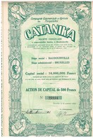 """Action Ancienne - Compagnie Commerciale Et Agricole Du Tanganika """"CATANIKA"""" - Titre De 1928 - N° 23234 - Afrique"""