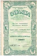 """Action Ancienne - Compagnie Commerciale Et Agricole Du Tanganika """"CATANIKA"""" - Titre De 1928 - N° 23234 - Afrika"""
