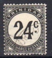 Trinidad & Tobago 1947-61 Postage Dues, Ordinary Paper, 24c Value, Used, SG D33 - Trinidad & Tobago (...-1961)