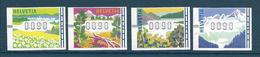 Timbre Neuf** De Suisse, N°11-14 Yt, Timbres De Distributeur, Montagnes, Lacs - Neufs