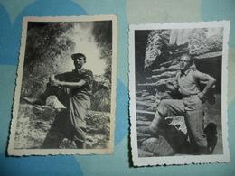 2 FOTO PICCOLE   ESCURSIONISTI  IN MONTAGNA - Persone Anonimi