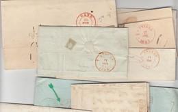 Vacation D'ANVERS : 9 LAC Dont Datée D'AXEL/ 18.11.44 Par TERNEUZEN / 19.11.44 -> Anvers Passage GAND / 20.11 Et Arrivée - 1830-1849 (Belgique Indépendante)