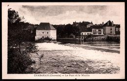 Chabanais - Le Pont Et Le Moulin- Molen - Salon De Coiffure - Animée - Edit. OLIVAUX - France