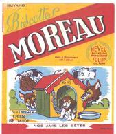 Buvard MOREAU Biscottes MOREAU SULTAN CHIEN DE GARDE NOS AMIS LES BETES - Biscottes