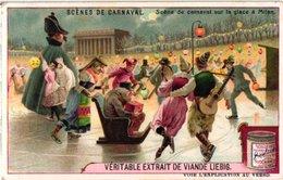 0986  Liebig 6 Cards- C1910 Carnival Scenes-sur La Glace à Milan-Villefranche-San Francisco-orizaba Mexique - Liebig
