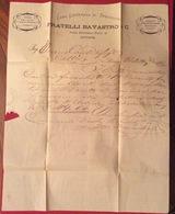 LIVORNO SCALI ROSCIANO 20/9/66 CASA SPEDIZIONI FRATELLI BAVASTRO & C. LETTERA PUBBLICITARIA CON 5 C. ISOLATO - Storia Postale