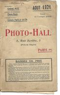 Catalogue Anciens Appareils Photos, Kodak, La Cocarette, Ansco, Et Matériel, Lanterne, Agrandisseur, Année 1921 - Vieux Papiers