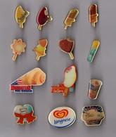 Lot De 14 Pin's Alimentation / Glaces (sodebo - Langnese Miko...) époxy - Food