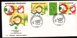 TOGO, 1985, PHILEXAFRIQUE III,. INTERNATIONAL PHILATELIC EXHIBITION - Togo (1960-...)