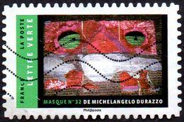 Oblitération Moderne Sur Adhésif De France N° 1402 - Masque - France