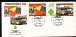Congo, 1985, PHILEXAFRIQUE III,. INTERNATIONAL PHILATELIC EXHIBITION - FDC
