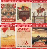 Denmark, TS 020 - TS 025, Reunion 75 Years Jubilee - Set Of 6 Cards, Posters, Flag, Mint 50 Kr, Only 1.500 Issued, 2 Sca - Denmark