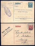 2 ENTIERS ALLEMAGNE- POSTKARTE EMPIRE- SURCHARGE DEUCHES REICH SUR 30 Ph  BLEU ET 40 Ph ROUGE- 1920- 21- - Germany