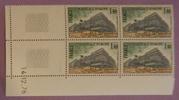 FRANCE SERVICE  ANNEE 1977  YT 55 NEUFS GOMME ALTEREE SUR 2 TIMBRES BLOC DE 4  COIN DATE 14/12/76 RARE 2 SCANS - Neufs