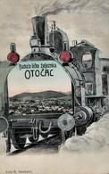 Otocac 1907. Circulated - Lika - Croatia - Pravoslavna Crkva - Railway Design - Croatia