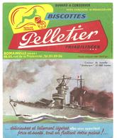 Buvard Pelletier Biscottes Pelletier Croiseur De Bataille Dunkerque 27000 Tonnes - Biscottes