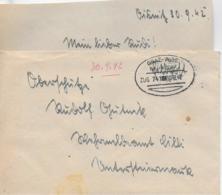 WZ L 1  Feldpost Von Deutschlandsberg Nach Wehrmeldeamt Cilli / Bahnpost Graz-Wies Am 30. 9. 42 - 1918-1945 1. Republik