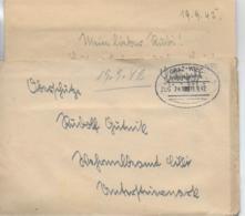 WZ L 1  Feldpost Von Deutschlandsberg Nach Wehrmeldeamt Cilli / Bahnpost Graz-Wies Am 19. 9. 42 - 1918-1945 1. Republik