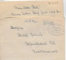 WZ L 1  Feldpost Von Deutschlandsberg Nach Wehrmeldeamt Cilli / Bahnpost Graz-Wies Am 24. 6. . 42 - 1918-1945 1. Republik