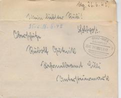 WZ L 1  Feldpost Von Deutschlandsberg Nach Wehrmeldeamt Cilli / Bahnpost Graz-Wies Am 25.  6. . 42 - 1918-1945 1. Republik