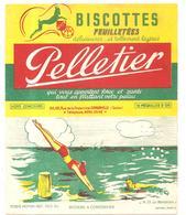 Buvard Pelletier Biscottes Pelletier Série Sport N°25 La Natation - Biscottes