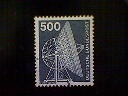 Germany, Scott #1192, Used (o), 1976, Effelsberg Radio Telescope, 500pfs, Slate Gray - [7] Federal Republic