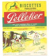 Buvard Pelletier Biscottes Pelletier Série Sport N°32 Le Cyclisme - Biscottes